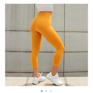 Pants - Astoria Activewear Seamless 3/4 Leggings in Yellow